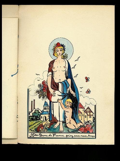 Manuscrit et dessins originaux. Guerre et résistance. Oradour. 1946