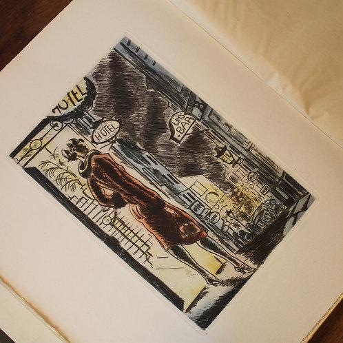 Francis Carco. Nuits de Paris (1927). 26 pointes sèches par Dignimont. 1/360 ex.