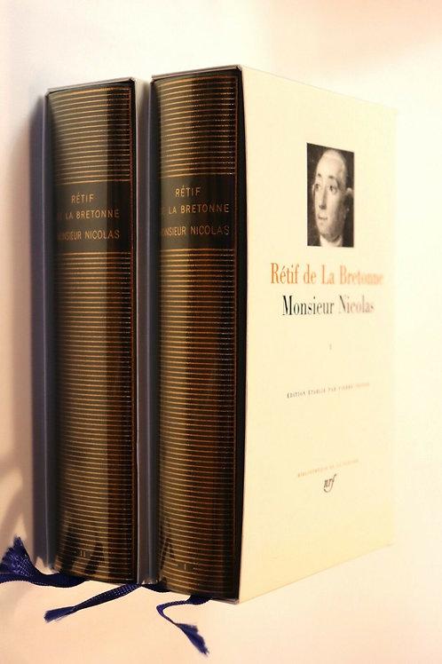 1989 Rétif de la Bretonne Monsieur Nicolas Pléiade NRF Pierre Testud Référence