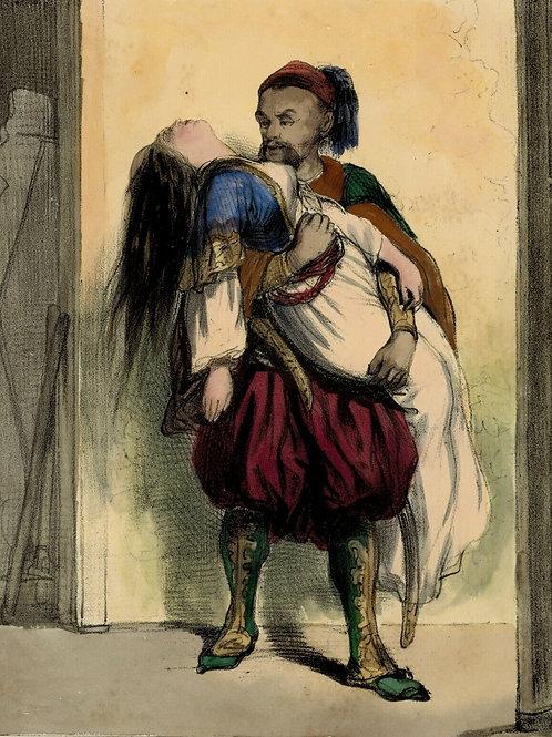 GAVARNI Lithographie originale époque aquarellée et gommée TIRAGE RARE 1840