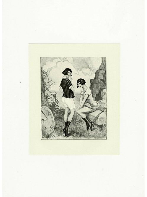 1930 L. MALTESTE photogravure mode années 30