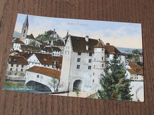 CPA Baden Schweiz vieille rue Suisse