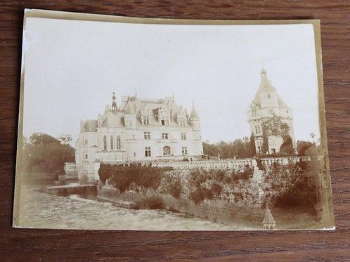 Photographie ancienne 1900 Château de la Loire Chenonceau