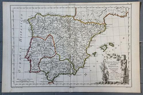 1765 1770 Map Carte géographique Atlas Philippe Prétot Moithey Spain Espagne
