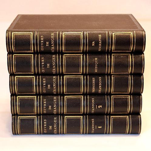 Béranger. Chansons. Oeuvres. Grandville. Lemud. 5 vol. in-8. Bel exemplaire
