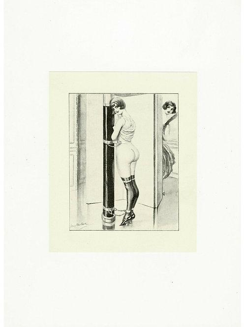 1930 L. MALTESTE photogravure Fouet Fessée
