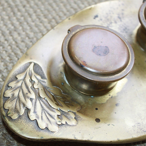 Encrier 1900 Art Nouveau bronze Geschützt Autriche