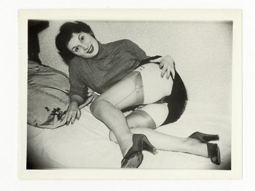 Photographie amateur argentique Pin Up '60 11 X 8 cm env. Ref. X4