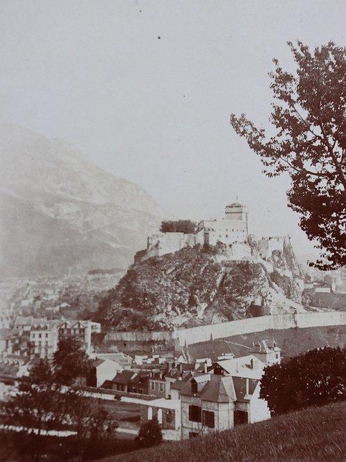 Photographie ancienne 1899 Château de Lourdes Pyrénées