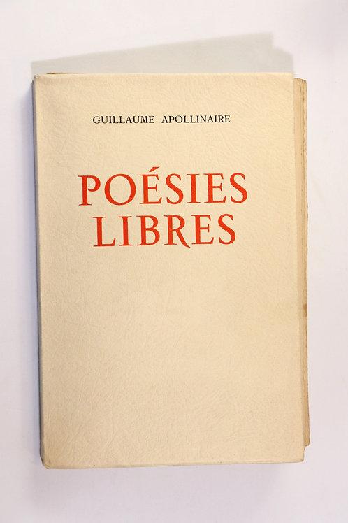Guillaume Apollinaire. Poésies libres. Cortège priapique. 20 dessins originaux.