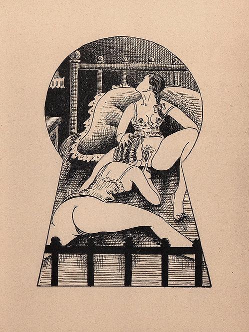 Pervers Lydia. Clandestin illustré (Toulouse, Francis Flores, 1958)
