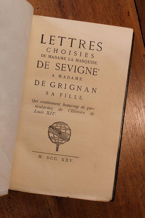 Marquise de Sévigné. Lettres. Premier texte de 1725. Reimpression Jouaust (1880)