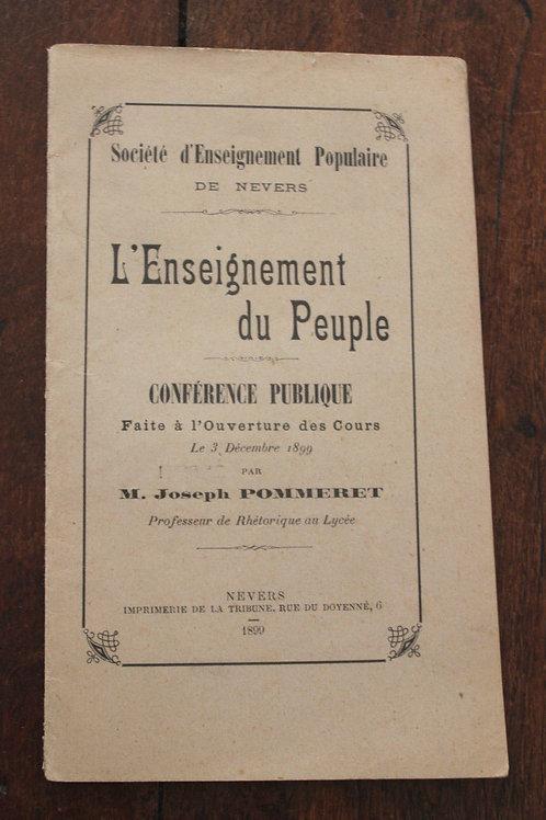L'enseignement du peuple. Société d'enseignement populaire de Nevers (1899)