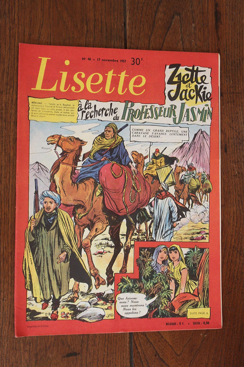1957 Lisette N°46 Magazine jeunesse, journal des filles