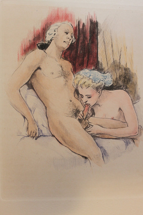 Restif de La Bretonne. La Duchesse ou la Femme Sylphide (1948). 20 eaux-fortes