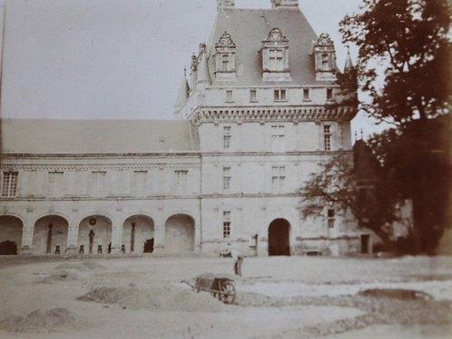 Photographie ancienne 1900 Château de la Loire Jardinier