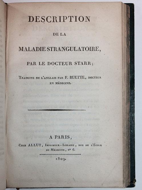 Ensemble d'ouvrages médicaux sur le Croup ou Angine suffocante (1807-1812)