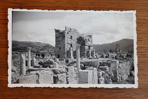 Photo ancienne 1930 Maroc Afrique Ruines de Volubilis Antiquité Arc Triomphe
