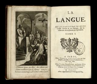 Laurent Bordelon. La Langue (1705-1707). Petite description matérielle et contenu de l'oeuvre. &