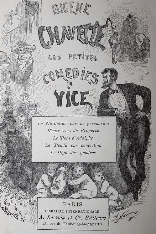Eugène Chavette. Les Petites Comédies du Vice (1875). 8 eaux-fortes de Benassit