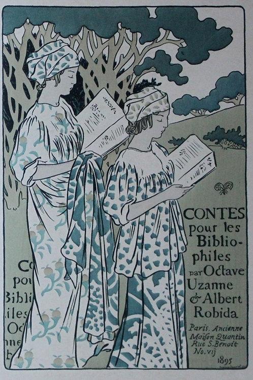 Couverture originale par Georges Auriol pour les Contes pour les Bibliophiles