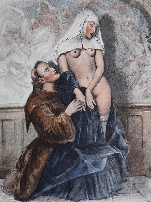 L'Oeuvre du Divin Arétin illustré par P.-E. Bécat (1959). Envoi autographe
