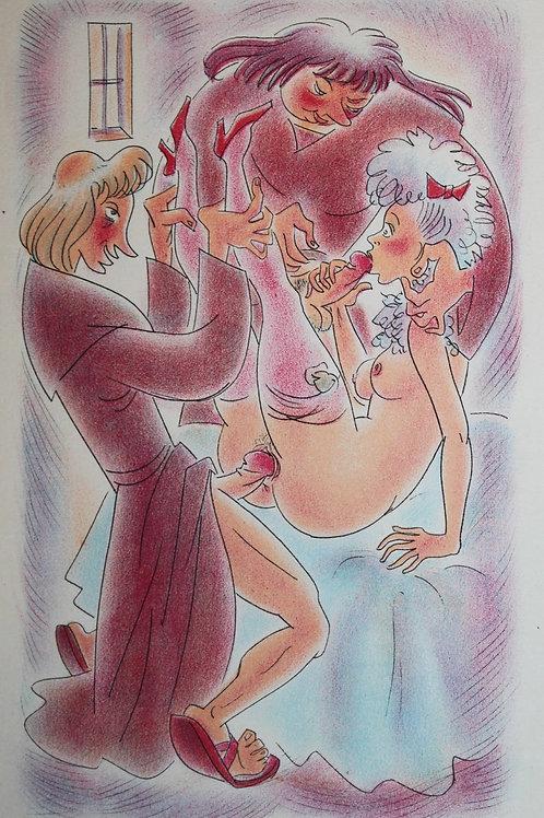 L'Ode à Priape de Piron (1940). 24 lithographies en couleurs