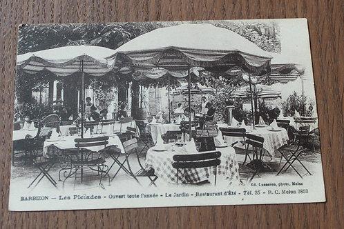 CPA Barbizon Les Pleïades restaurant d'été le jardin
