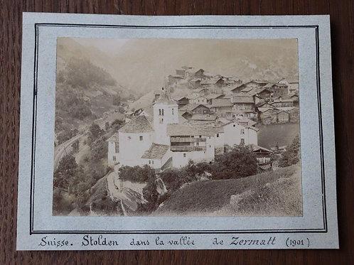 Suisse photographie ancienne Stolden Vallée Zermatt 1901