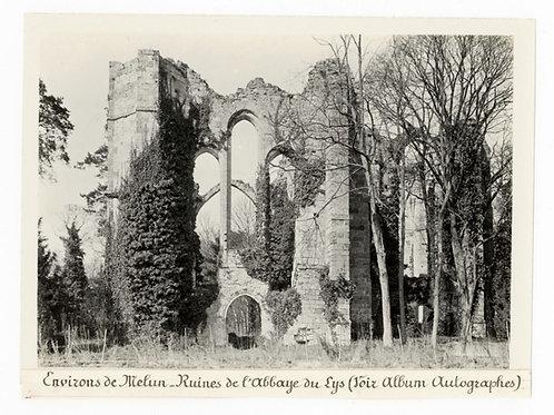 Photographie ancienne vers 1910 Ruines de l'abbaye du Lys environs de Melun 2