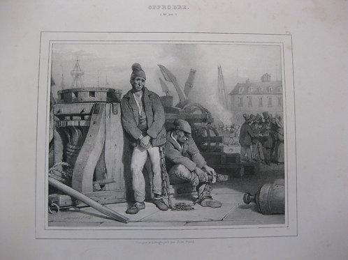 Vice et Vertu. Album moral par Jules David (vers 1836). 12 lithographies