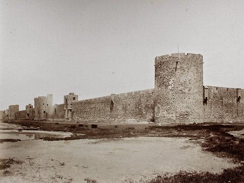 E. Baldus 2 photographies citadelle remparts Aigues-Mortes vers 1860
