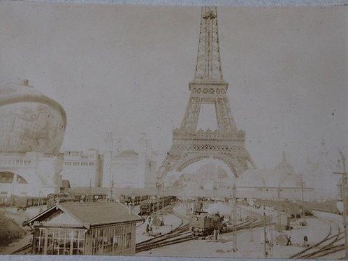 Paris 1900 Photographie ancienne Exposition Universelle Tour Eiffel Globe