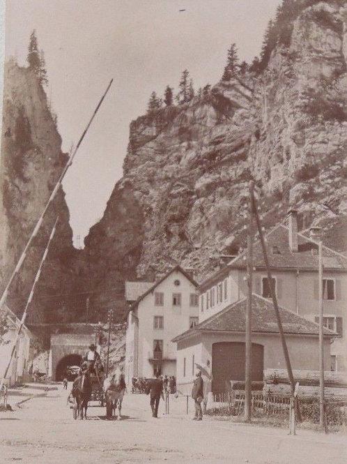 Photographie ancienne 1900 Col des Roches Morteau Suisse Neuchâtel Frontière
