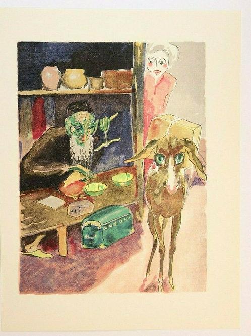 Kees Van Dongen Estampe couleurs 1955 aquarelle Mille et une nuits Oriental N°6