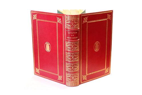 Marillac. Imitation de Jésus-Christ (1876). 1/200 ex. Hollande. Maroquin. Armes.