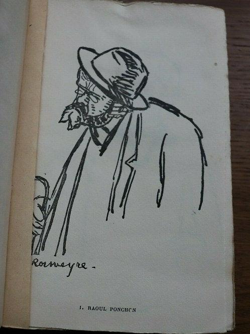 1913 Visages des Contemporains Rouveyre De Gourmont Caricatures