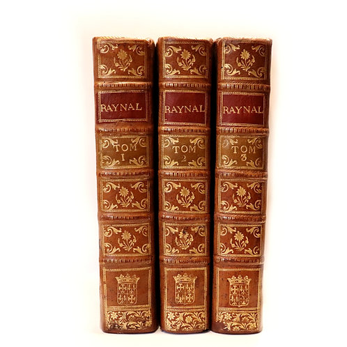 Abbé Raynal. Histoire philosophique ... des deux Indes (1775). Première in-4.