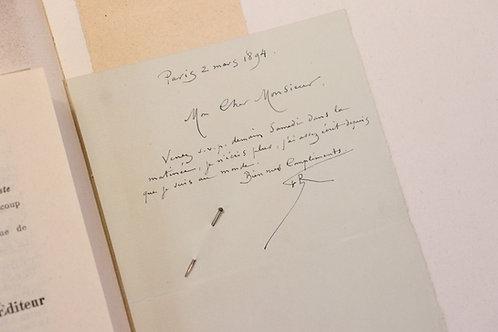 Félicien Rops. Eugène Demolder. Etude Patronymique. 1/6 ex. Chine. Autographe