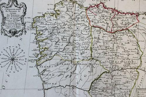 1765 1770 Map Carte géographique Atlas Philippe Prétot Moithey Léon Portugal