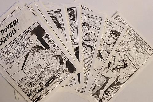 BD adulte Fumetti italien Spaghetti n°3. 30 planches originales à l'encre. Rare