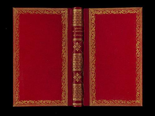 Félix Bodin. Résumé de l'histoire de France jusqu'à nos jours. 1823. Superbe.