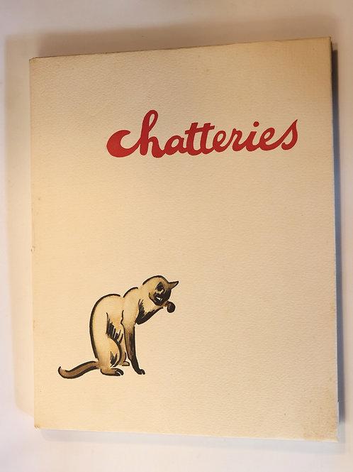 Jacques Nam. Chatteries (1933). Estampes. Un des plus rares curiosa de son temps