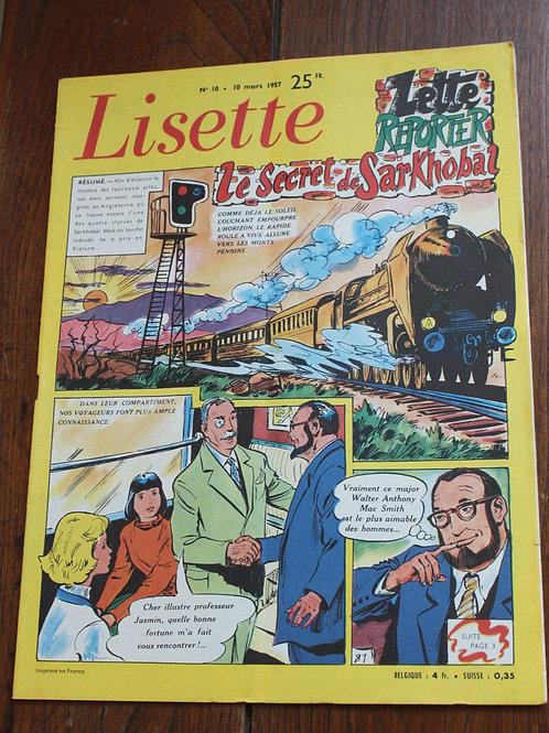1957 Lisette N°10 Magazine jeunesse, journal des filles