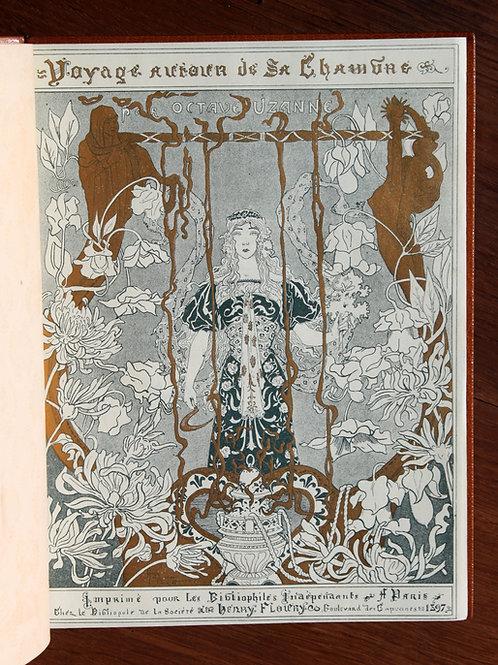 Octave Uzanne. Henri Caruchet. Voyage autour de sa Chambre (1896). Ex. unique