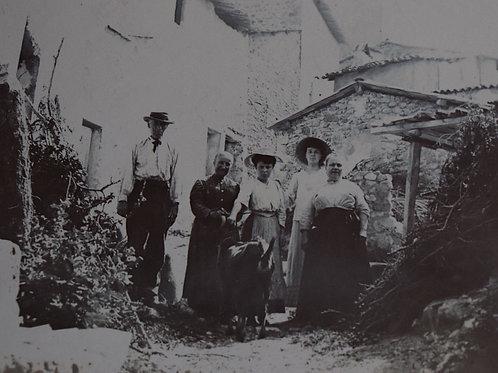 Photographie ancienne 1905 vers Marseille village de Provence Provinciaux