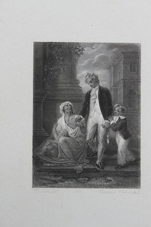 Achille Devéria. Estampe sur acier pour J. J. Rousseau (vers 1827)