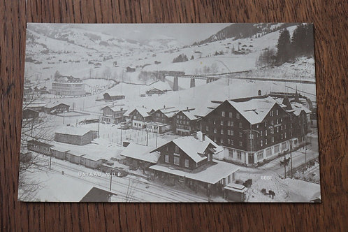 CPA Gstaad sous neige Hiver Suisse Berne