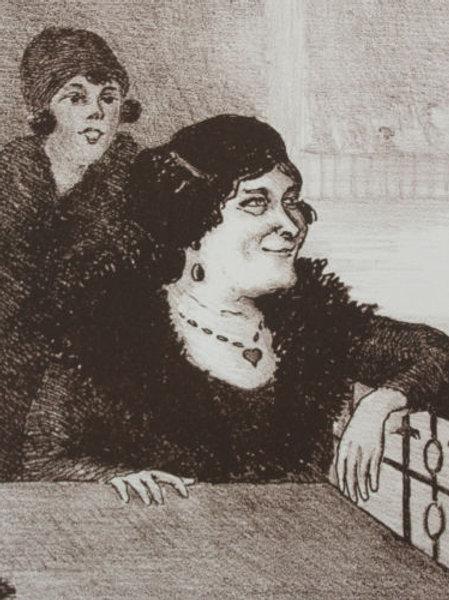 Lithographie de Georges Van Houten Moulin rouge