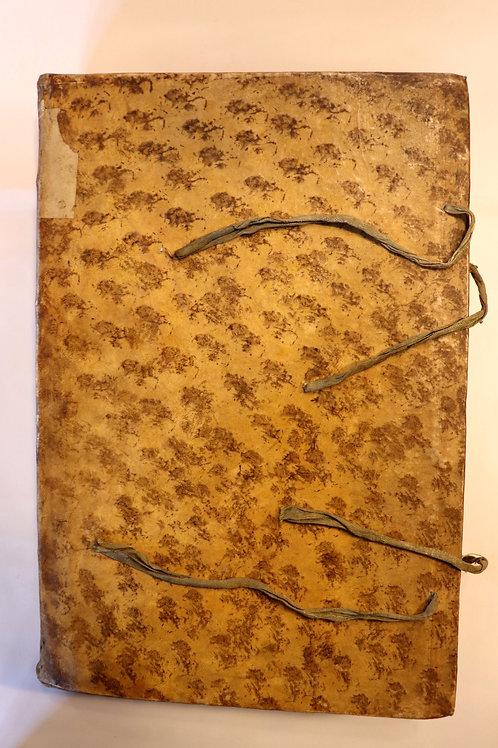 Anonyme. Manuscrit (vers 1775). Extraits historiques et scientifiques. Unique